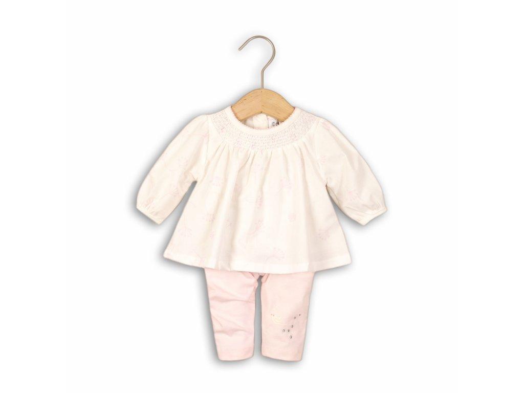 Kojenecký set bavlněný, tunika a legíny Baby růžová