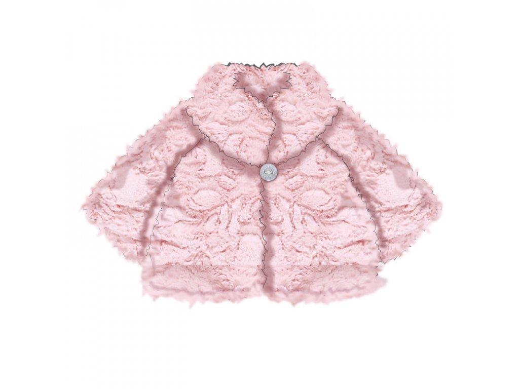 Kabátek zimní kojenecký chlupatý Baby růžová