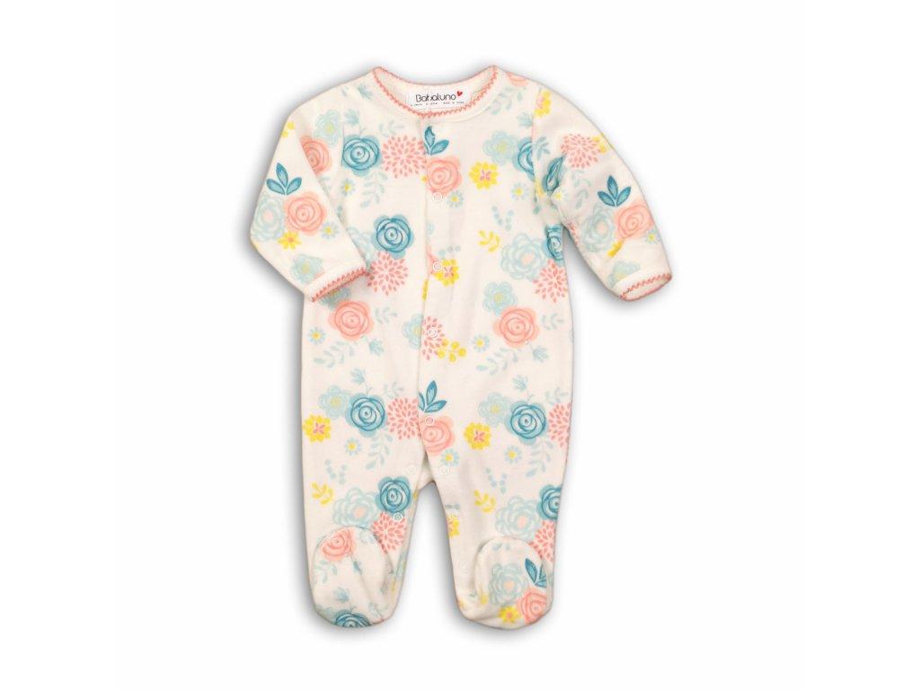 Overal kojenecký sametový Baby holka