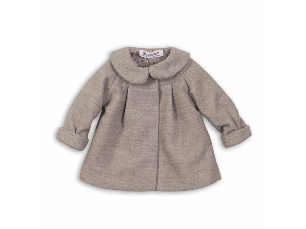 Kabátek kojenecký s límcem a podšívkou Baby šedá