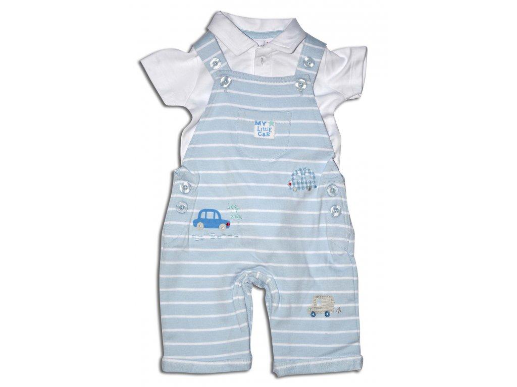 overal kojenecký a tričko Baby bílá