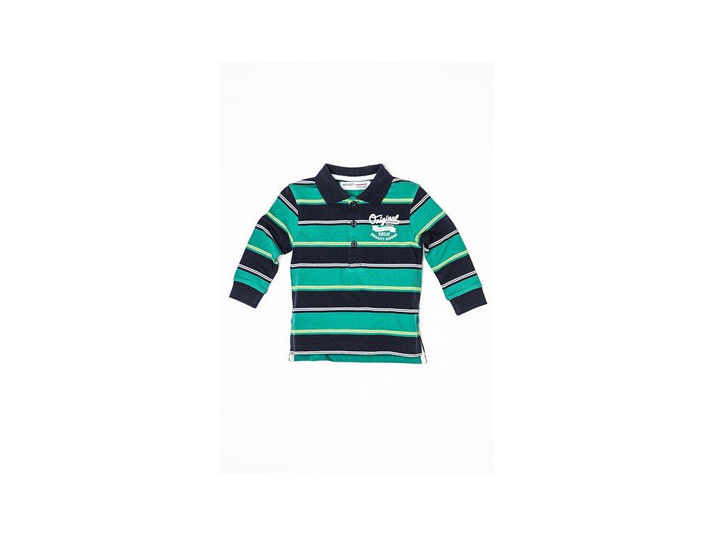 Tričko chlapecké POLO s dlouhým rukávem Baby zelená