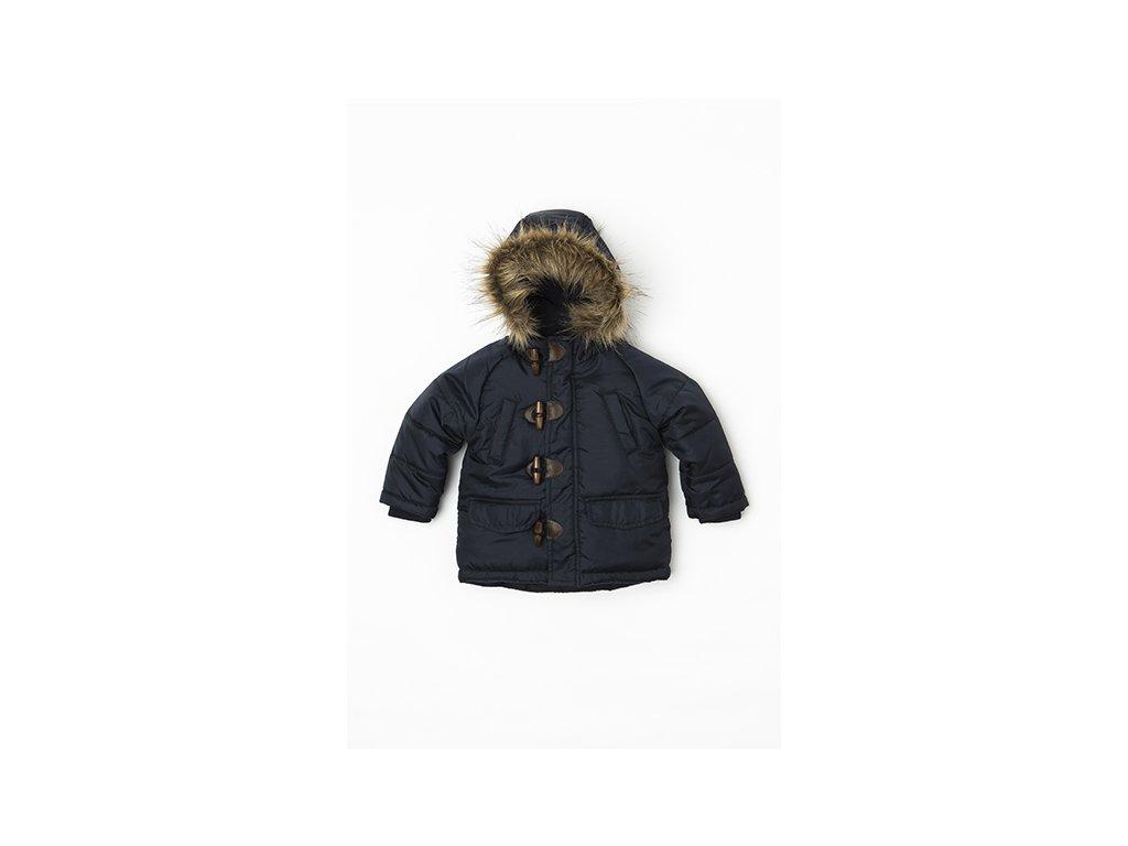 Bunda chlapecká zimní Parka Puffa nylonová, prošívaná Baby modrá