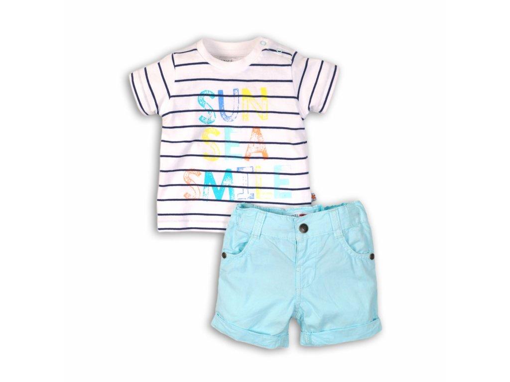 Chlapecký set, tričko a kraťasy Baby modrá