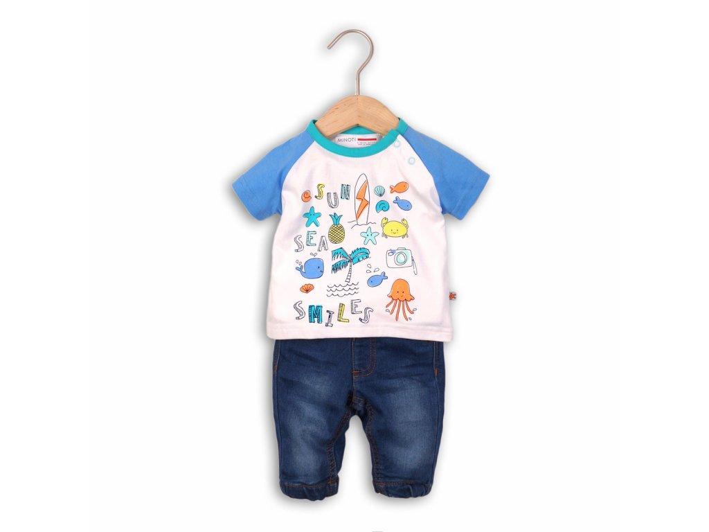 kalhoty riflové a tričko Baby kluk