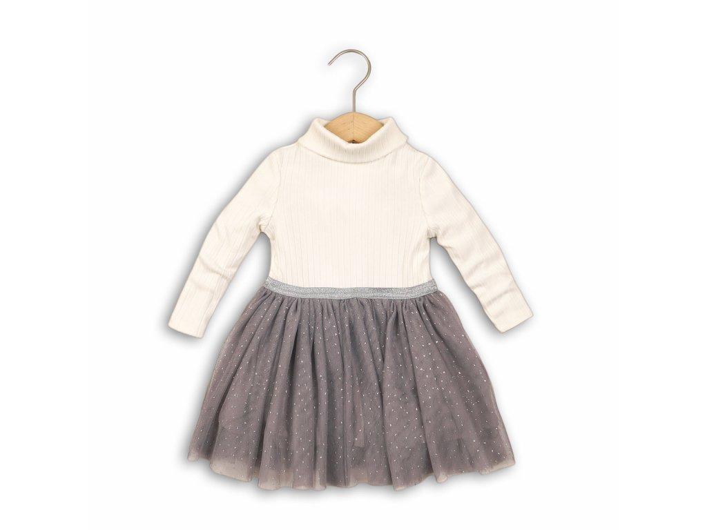 Šaty dívčí, rolák a řesená sukně Baby bílá