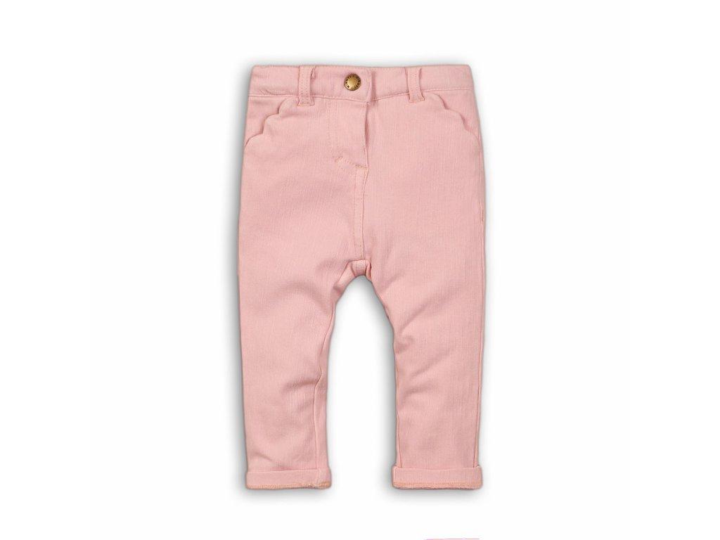 Kalhoty dívčí s elastenem Baby růžová