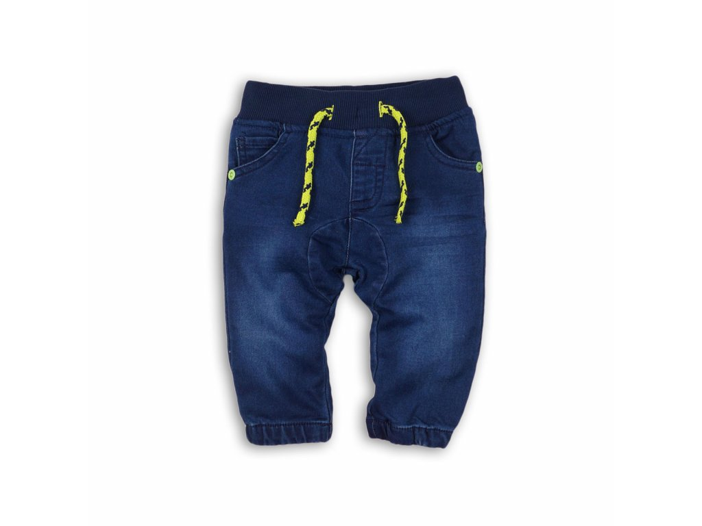 kalhoty riflové na gumu Baby modrá