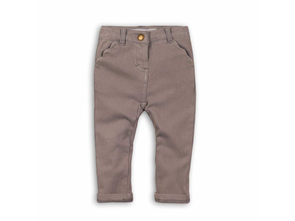 Kalhoty dívčí s elastenem Baby šedá