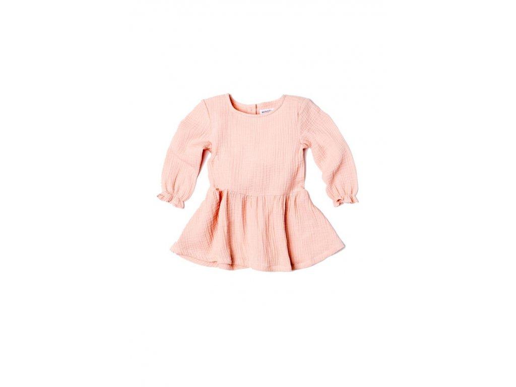 Šaty dívčí s řasenou sukní Baby růžová