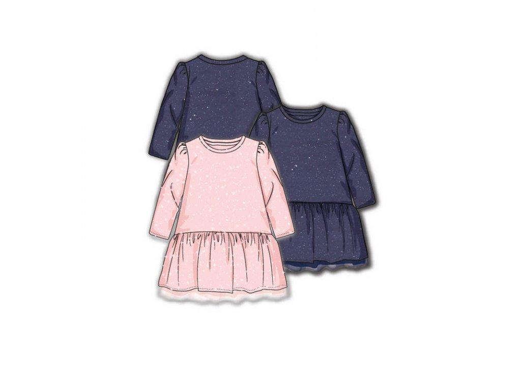 Šaty dívčí s elastenem Baby růžová