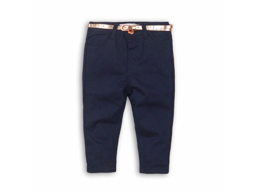 Kalhoty dívčí elastické s páskem Baby modrá