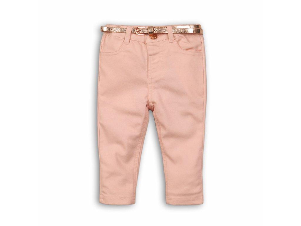Kalhoty dívčí elastické s páskem Kids růžová