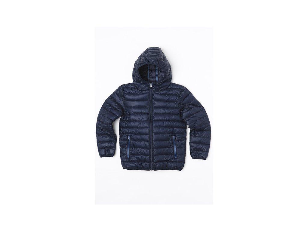 Bunda chlapecká zimní Puffa nylonová Junior modrá
