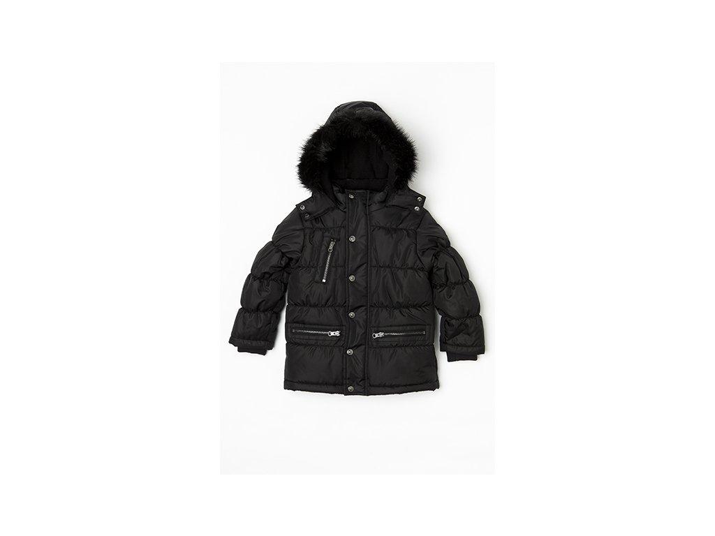 Kabát chlapecký zimní prošívaný Junior černá