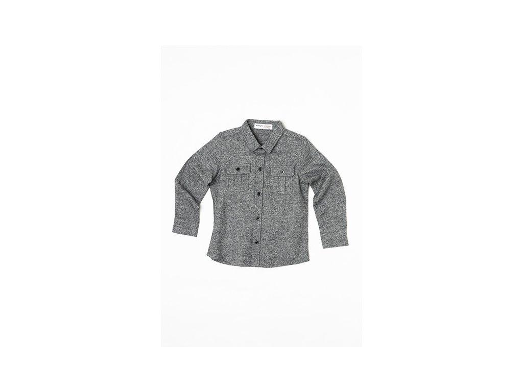 Košile chlapecká flanelová Kids šedá