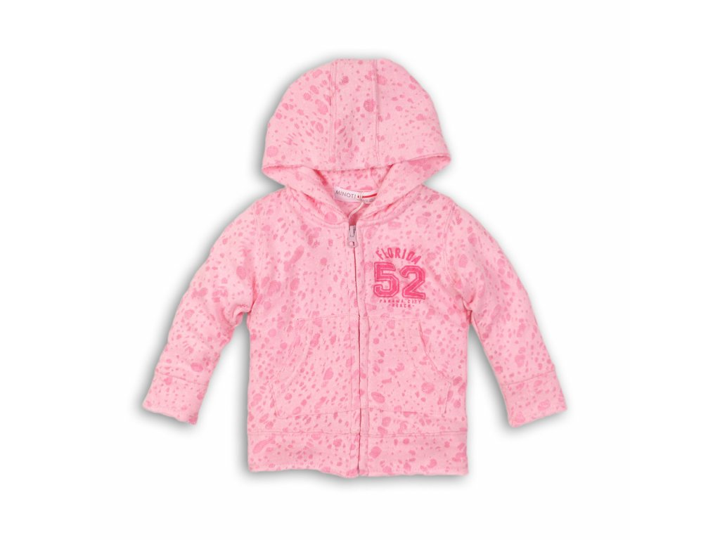 mikina dívčí na zip Baby růžová
