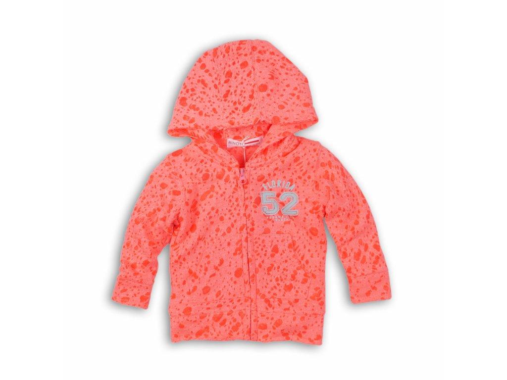 mikina dívčí na zip Baby oranžová