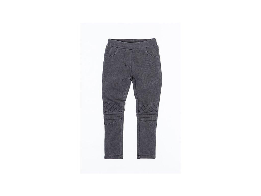 Kalhoty divčí elastické Kids šedá