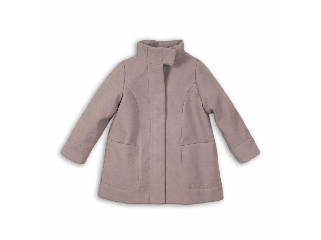 Kabát dívčí vlněný s vysokým límcem Kids šedá