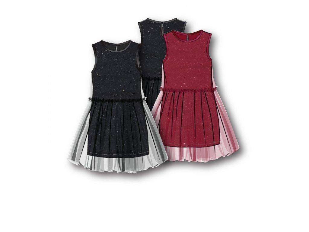 Šaty dívčí s TUTU sukní Kids černá