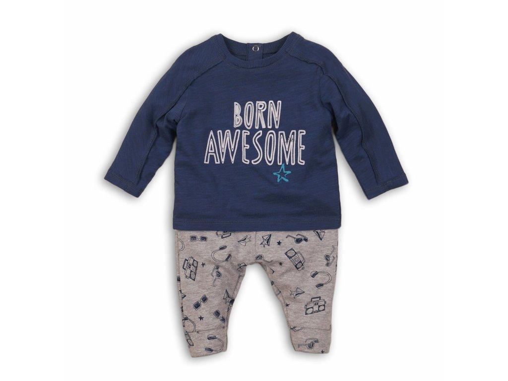 Chlapecký set bavlněný, tričko a tepláky Baby kluk