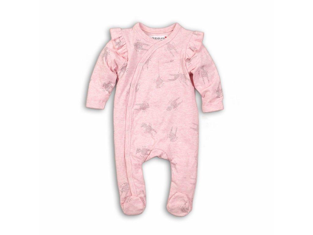 Overal kojenecký bavlněný Baby růžová