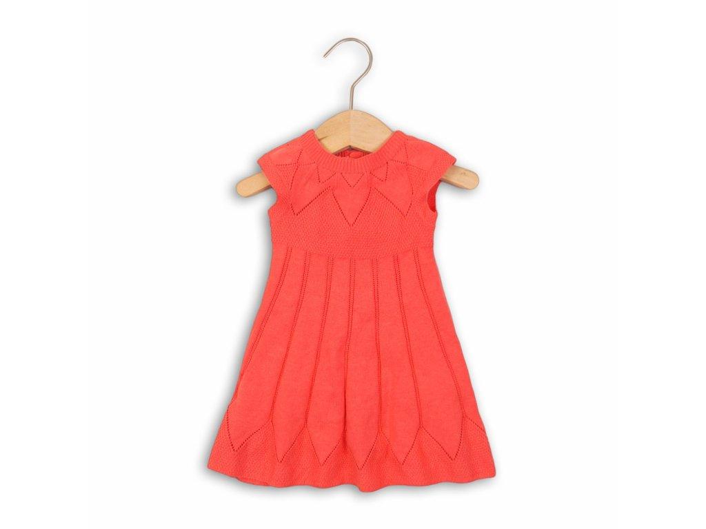 Šaty dívčí úpletové Baby červená