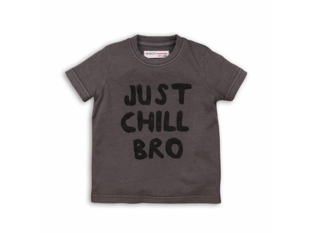 Tričko chlapecké s krátkým rukávem Baby šedá