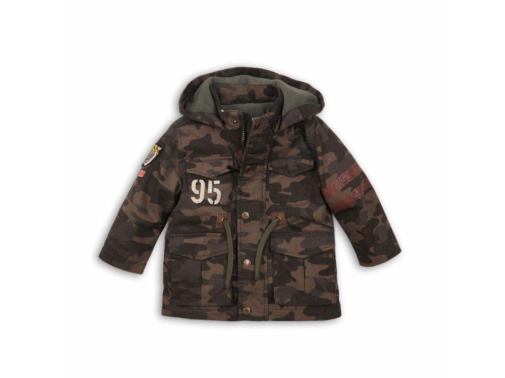 Kabát chlapecký Parka maskáč Baby khaki