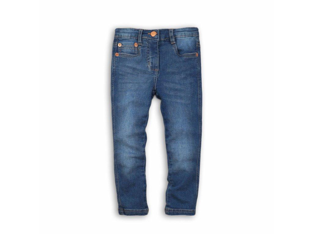 Kalhoty dívčí džínové s elastenem Baby modrá