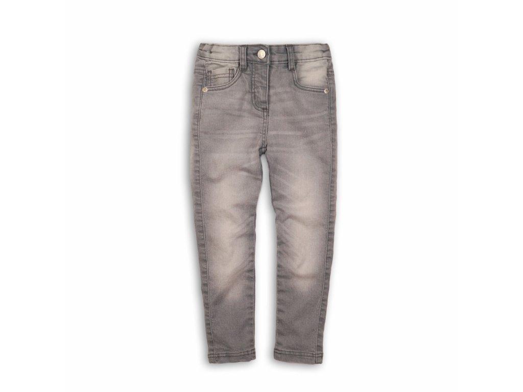 Kalhoty dívčí džínové s elastenem Baby šedá