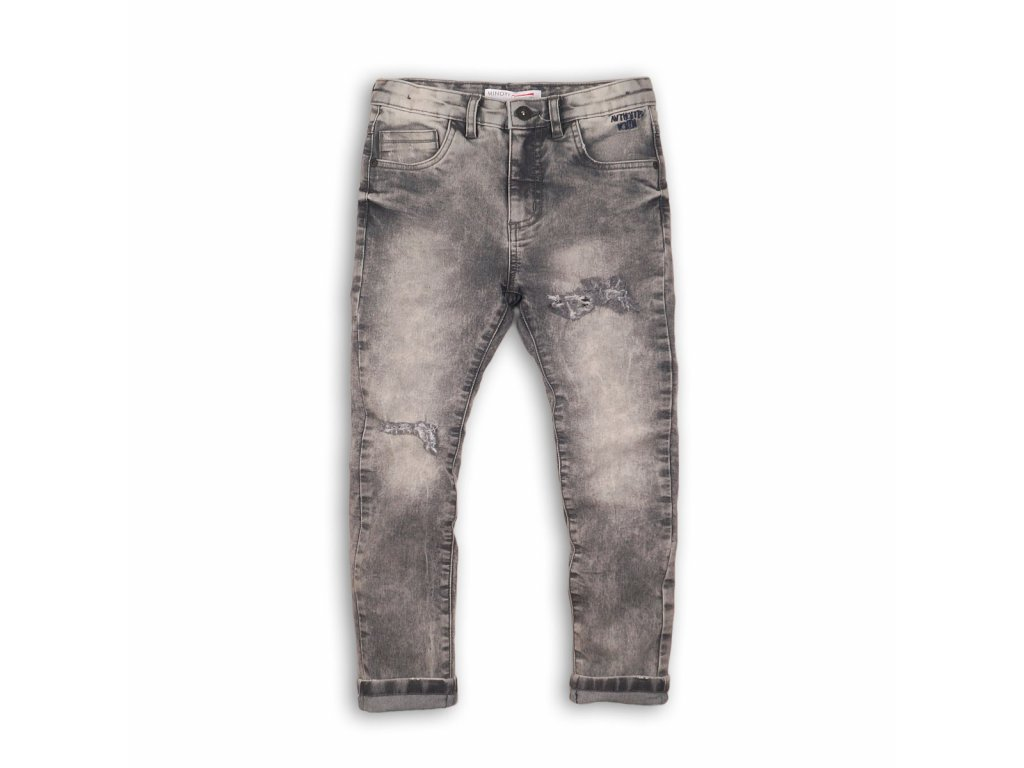 Kalhoty chlapecké džínové s elastenem Kids šedá