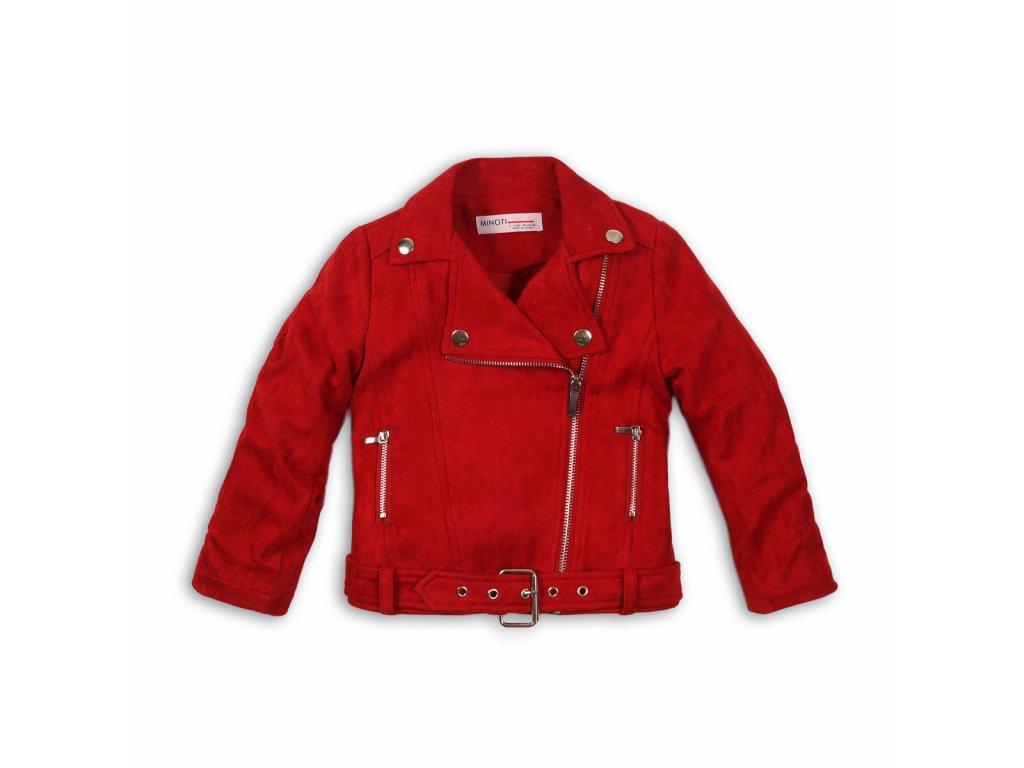 Bunda dívčí Biker Kids červená