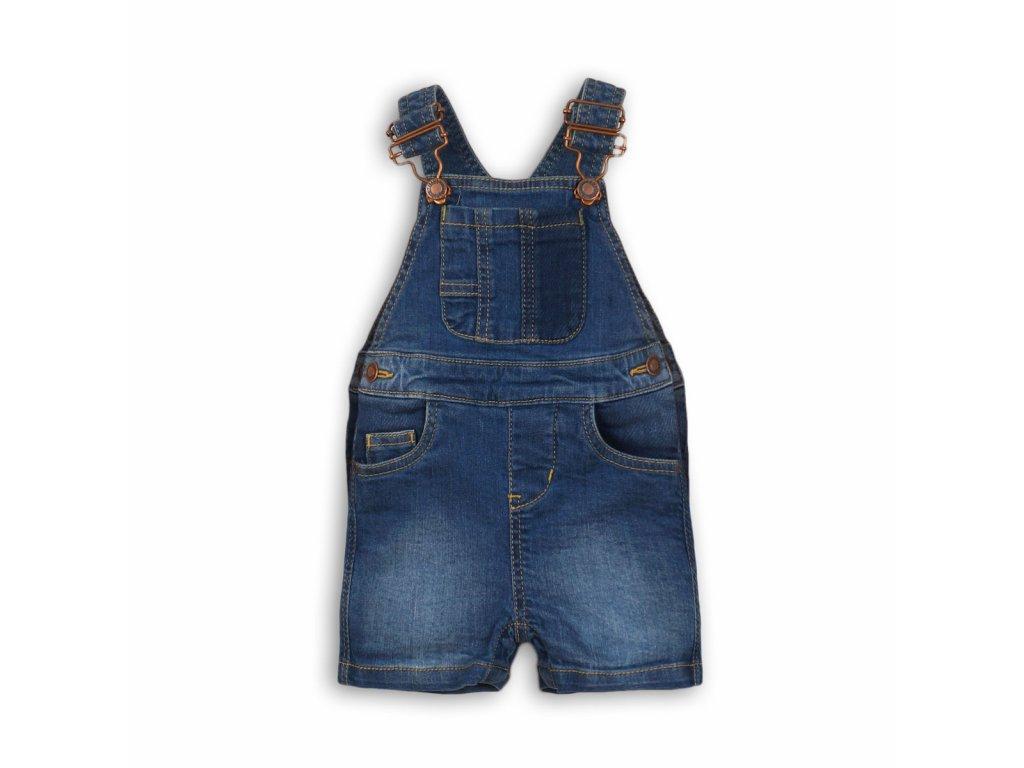 Kraťasy chlapecké džínové s laclem Baby modrá