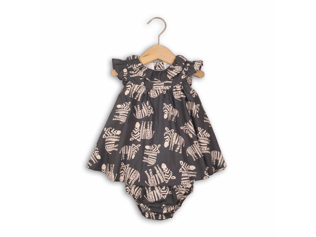 Šaty dívčí a kalhotky Baby šedá