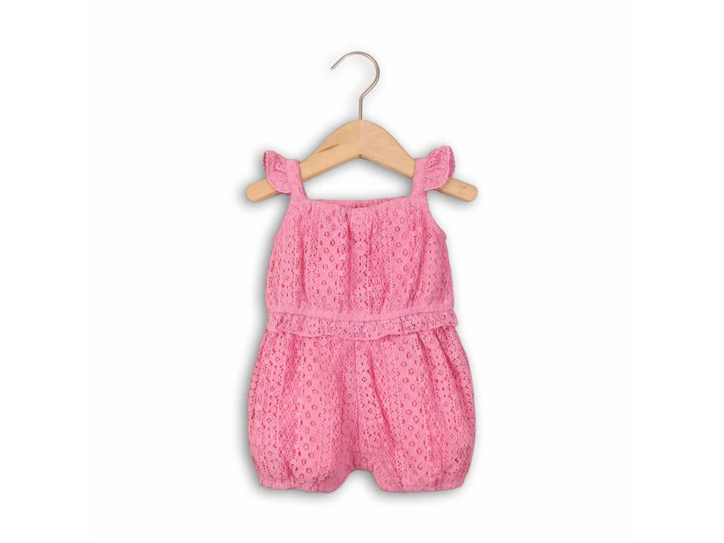 Overal kojenecký letní Baby růžová