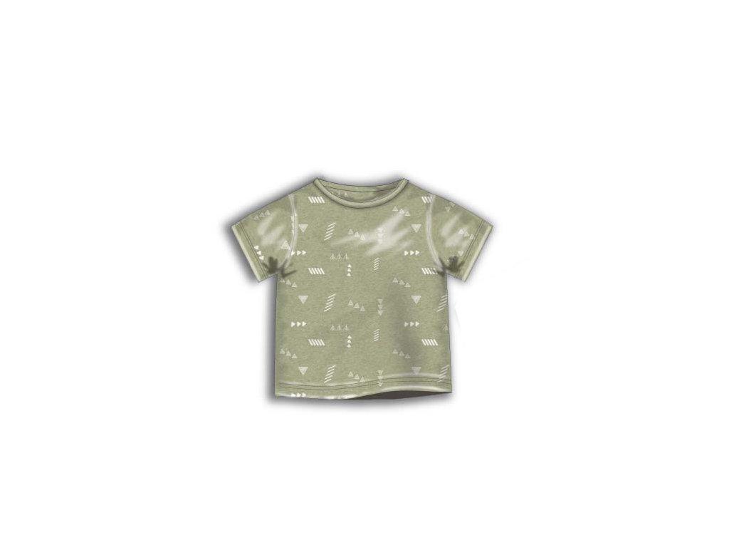 Tričko chlapecké s krátkým rukávem Baby khaki