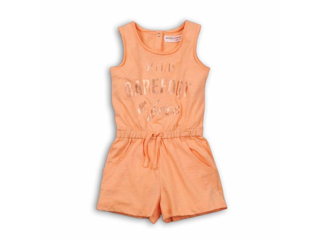 Overal dívčí letní Baby oranžová