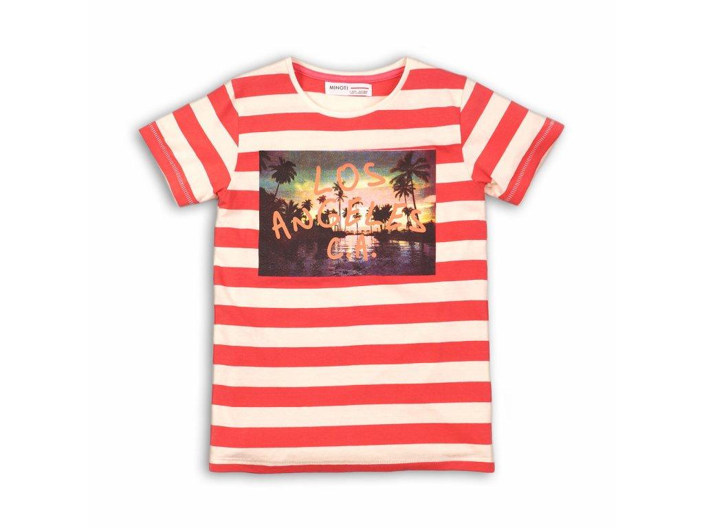 Tričko chlapecké s krátkým rukávem Junior červená
