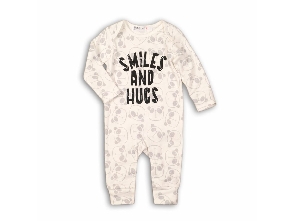 Overal kojenecký bavlněný Baby bílá