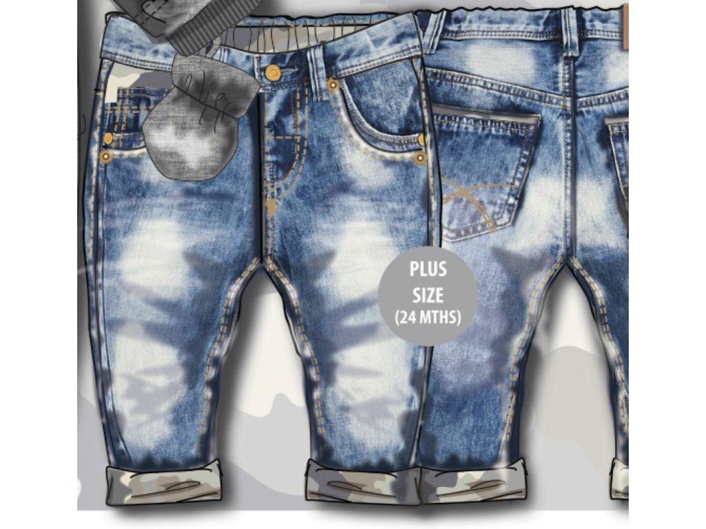 Kalhoty chalepecké džínové Baby modrá