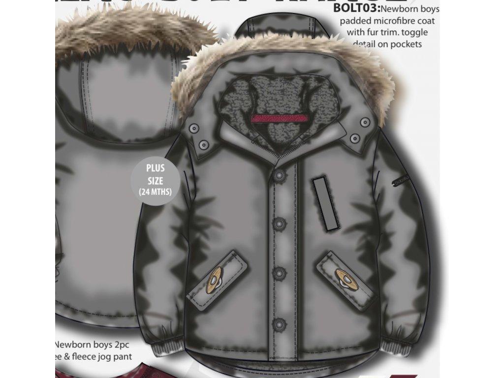 Kabát chlapecký zimní Baby šedá