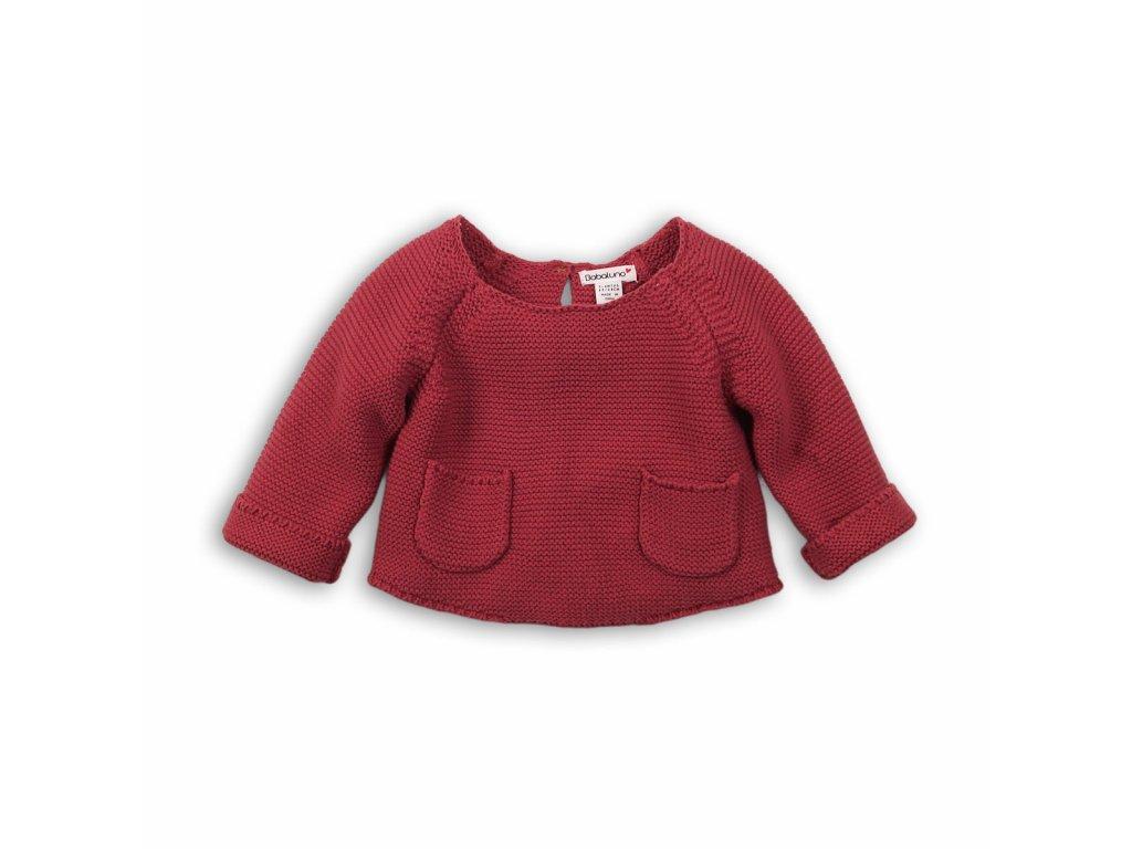 Svetr dívčí s kapsami Baby červená