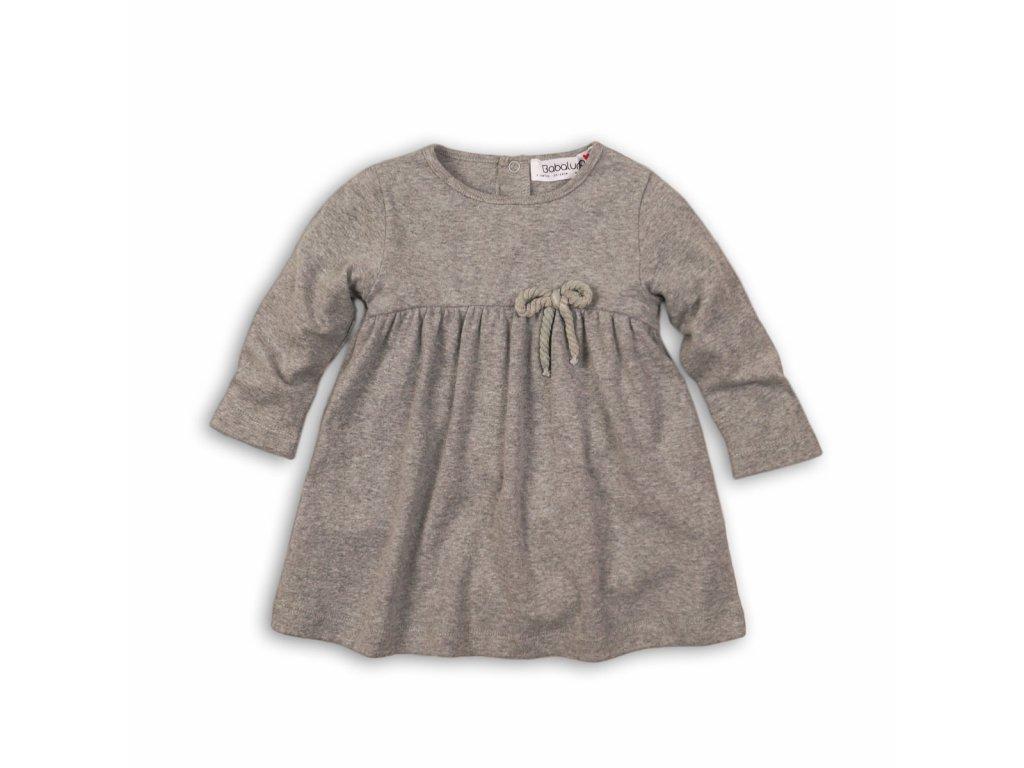 Šaty dívčí s mašlí Baby šedá