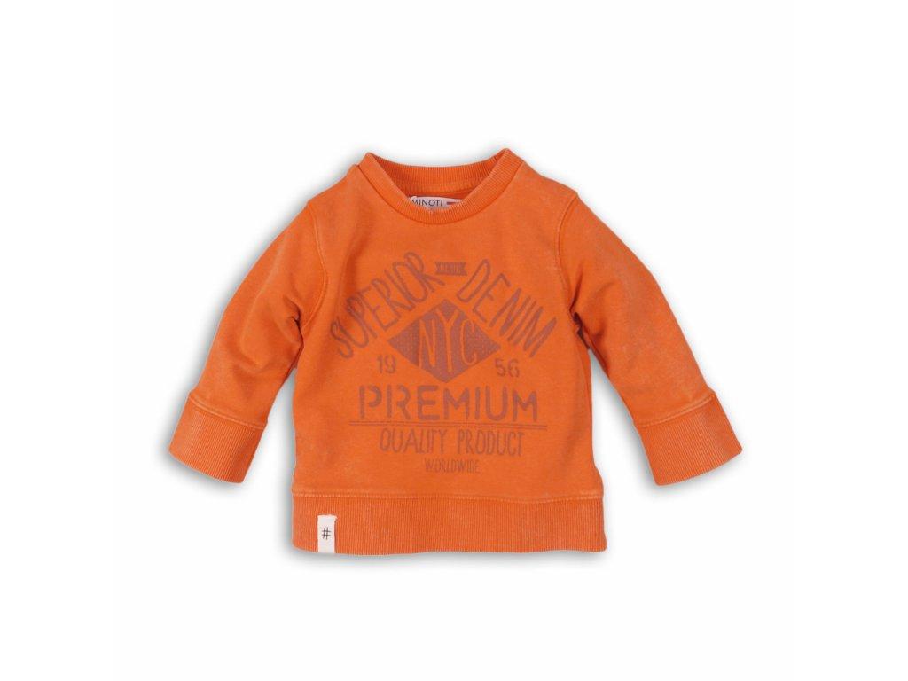 Mikina chlapecká s potiskem Baby oranžová