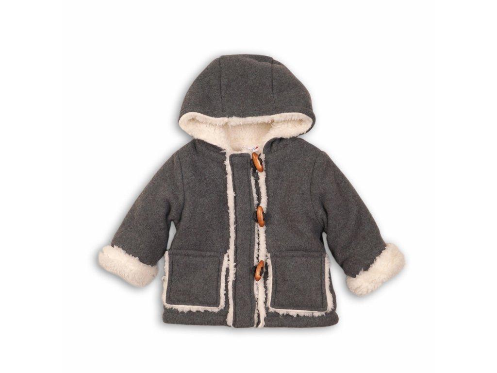 Kabát dívčí s chlupem Baby šedá