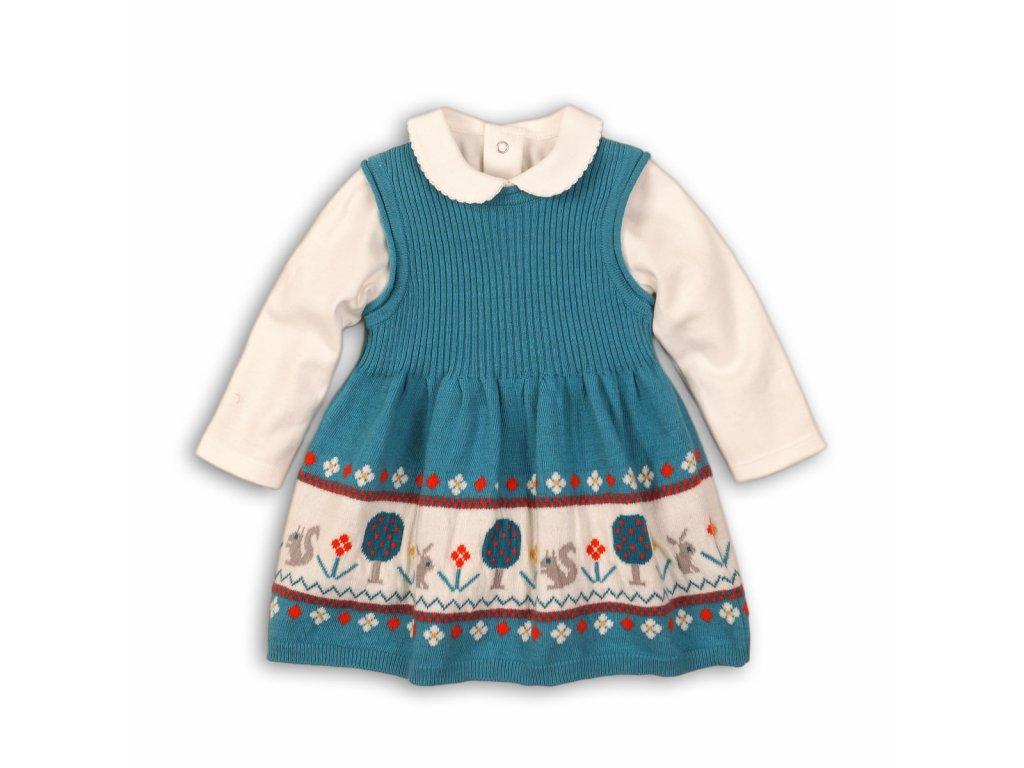 Dívčí set , šatovka a body Baby modrá