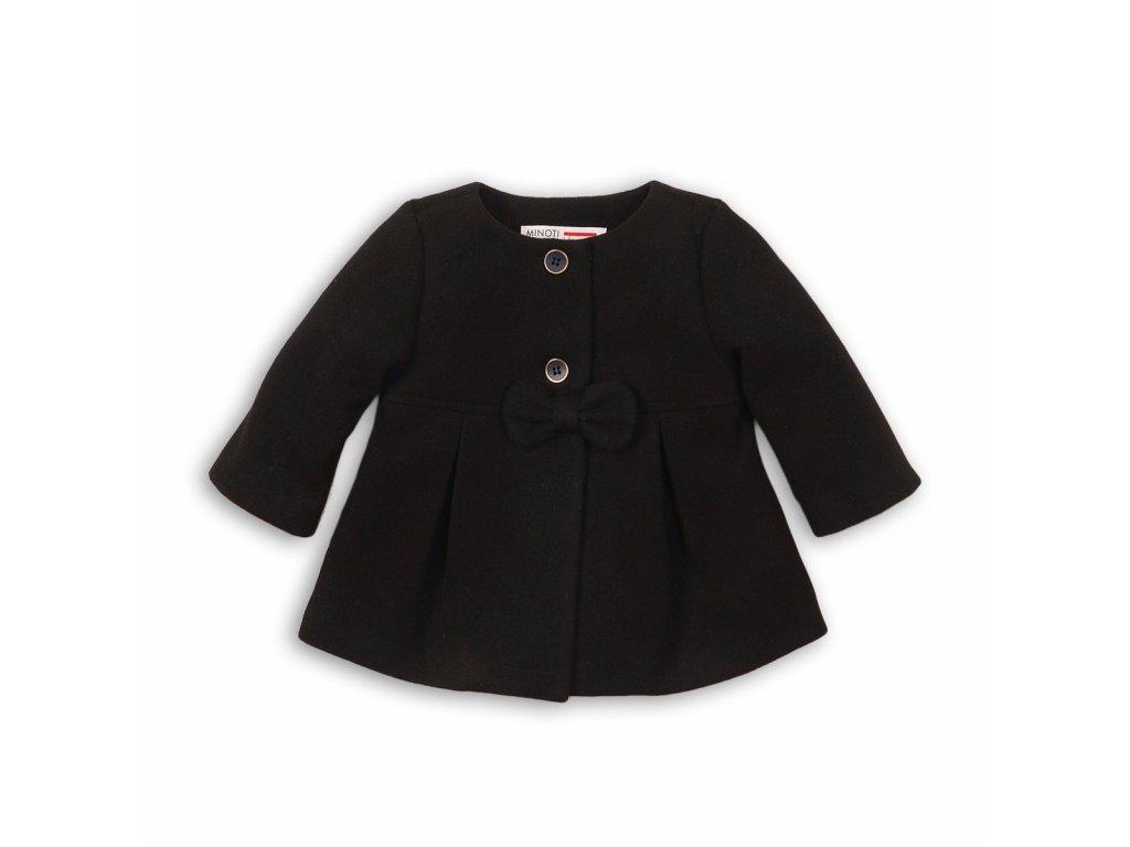 Kabát dívčí s mašlí Baby černá