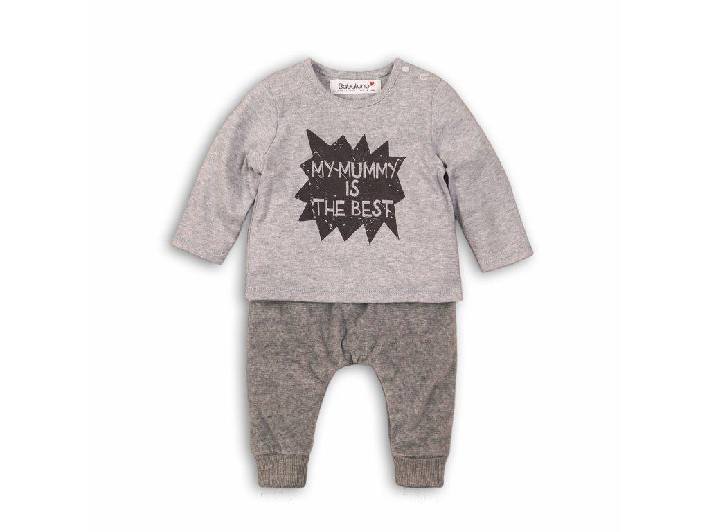 Chlapecký set , tričko a tepláky Baby šedá